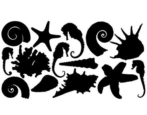Apalis Wandtattoo No.TA78 Reef II Riff Ozean Meer Strand Muschel, Farbe:Braun;Größe:108cm x 200cm