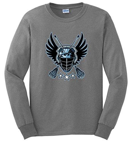 Lacrosse Gear Hofstra Lacrosse Lacrosse Warrior Lacrosse Jolly Roger Crossed Lacrosse Sticks Long Sleeve T-Shirt 2XL SpGry Sport Grey