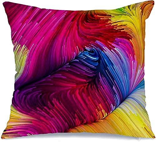 Throw Pillow Cover Funda de cojín, Color Motion Multicolor As Dynamic para Series en Movimiento Paleta Telón de Fondo Pintura líquida Texturas Funda de Almohada