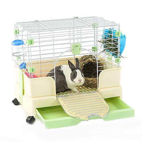 Birdcage Jaula de Conejo cajón Jaula de Conejo Jaula de Conejillo de Indias cría en Interiores casa de Villa Especial Interior Mascota pequeña Jaula para Mascotas