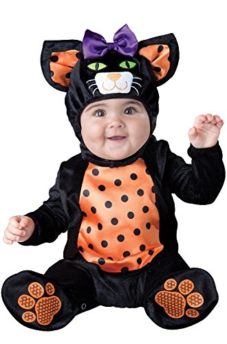 InCharacter Mini Meow Infant Costume, Small (6-12) Black/Orange