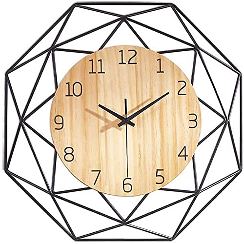 Reloj De Pared Con Pilas, Sin Tictac, Silencioso, Único, Decorativo Para El Hogar, Relojes Colgantes, Decoración, Reloj Cuarzo, Pegatina Dormitorio Sala Estar, Cocina, Dormitorio, Oficina,37.5cm