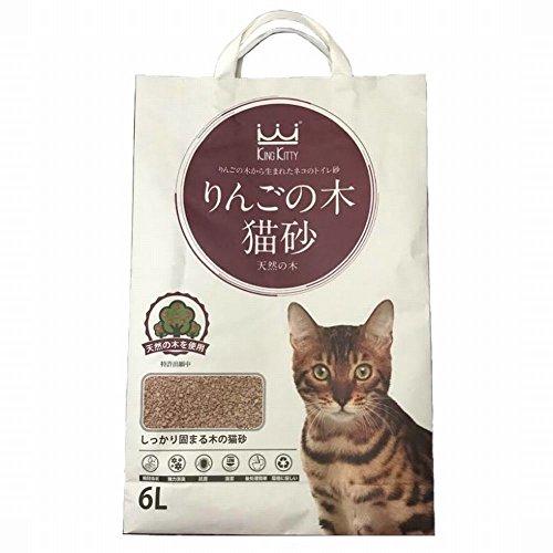 猫砂セレブ りんごの木 高級猫砂 安全安心 天然の木97%使用 6L