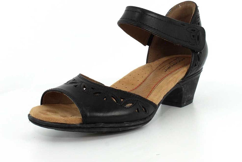 Rockport Women's Ch Abbott 2 Pc Ankle shoes, 6.5 B(M) US, Black Lthr