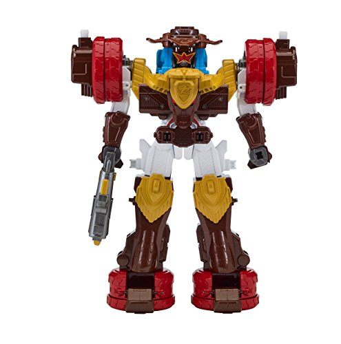 Power Rangers Super Ninja Steel Megazord Figure, Bullrider Megazord