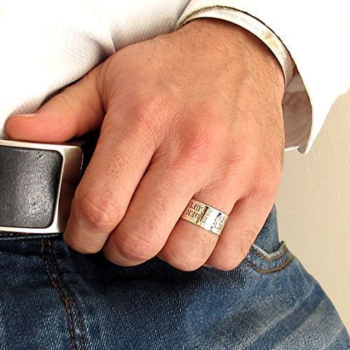 Mens Name Ring Size 13 Silver Rings for Men Size 15 Men/'s Big Size Ring Pinky Ring for Him Size 16 Custom Ring for Man Size 14