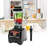 Professional Countertop Blender 1 Gallon Smoothies Maker Juicer Processor Extractor Maker Mixer 2800W BPA Free 2 in 1 Dry-wet Blade Container Industrial Commercial Home Use (Smoothie Blender)