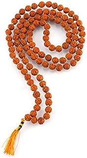 Aatm Tibetan 108 Beads Shiva Rudraksha Jaap Mala Necklace for Prayer & Healing (Beads Size - 5 mm)