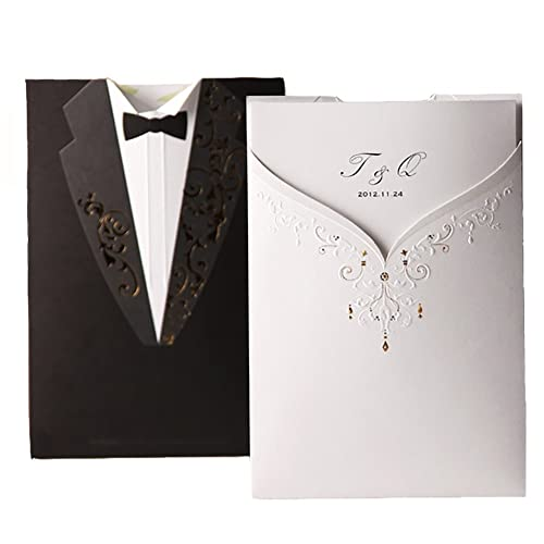 Black and Gold Wedding Invitations: Amazon.com