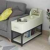 NBVCX Furniture Decoration Solid Wood Sofa Side Table Office Corner Table Leisure Table Writing Double Layer with Drawer 5 60 * 30cm