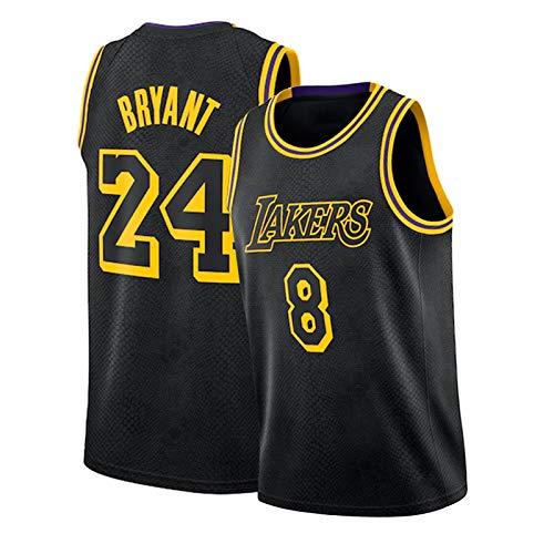 HTKJG Laker Bryant Antes del # 8 después de # 24 City Edition Basketball Jersey, Snake Black Mamba Swing Manivels Top (S-XXL) Black 1-XL