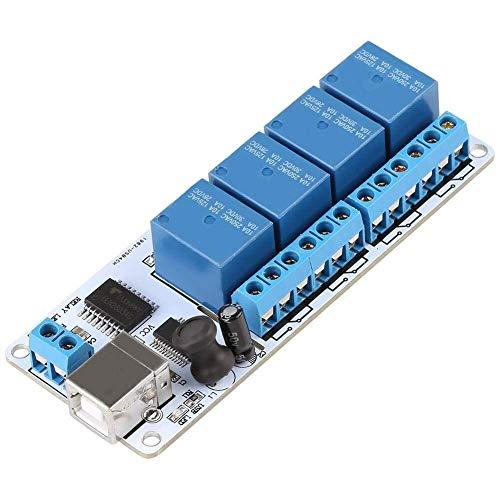 BJLWTQ USB Tipo B Scheda relè, relè Controller Consiglio Modulo 4 canali 12VDC Type-B USB for l'automazione robotica (DC5V)