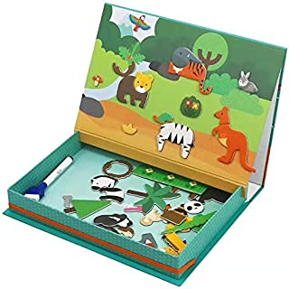 Babyfit Kids Educational Toys Magnetic Animal World Art Case Puzzle Play Set (Pretend Play Set, Display Stands, Great Gift...