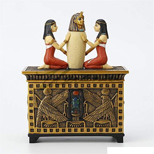 Figuur, beeld, beeldjes, beeldjes, beeldjes, sculptuur, creatief Het oude Egypte Ramses II Jewel Box kunst sculptuur figuur hars kunsthandwerk decoraties voor woonkamer Home Soft Decoratie Tv-kast meubels