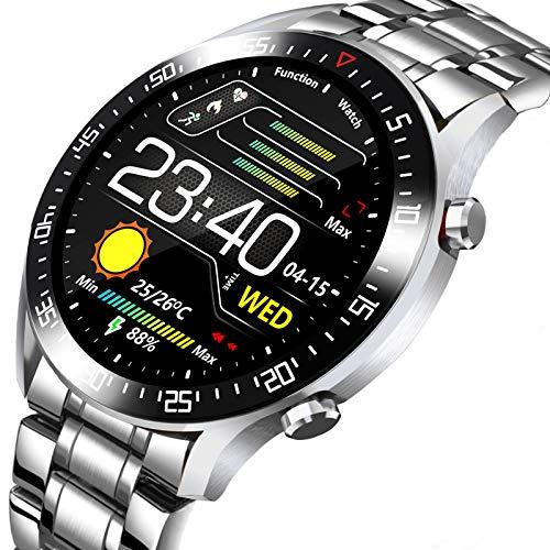 Reloj de pulsera para actividad física y oxígeno en sangre con pantalla táctil para hombre LIGE, contador de calorías impermeable