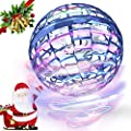 FLYNOVA PRO Flying Toys, Globe Shape Magic Controller Mini Drone Flying Toy Flying Spinner 360° Rotating Spinning LED Lights for Kids Adults Indoor Outdoor -2020 Upgraded