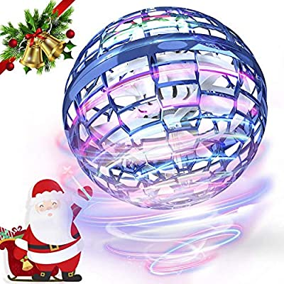 FLYNOVA PRO Flying Toys, Globe Shape Magic Controller Mini Drone Flying Toy Flying Spinner 360° Rotating Spinning LED Lights for Kids Adults Indoor Outdoor -2021 Upgraded