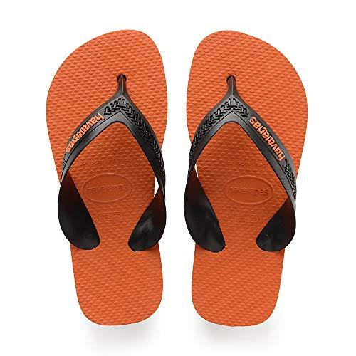 Havaianas Kids Max, Infradito Unisex Bambini, Grigio (Steel Grey/Neon Orange 5047), 31/32 EU