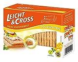 Leicht & Cross Goldweizen Knusperbrot, 1er Pack (1x 125 g Packung) -