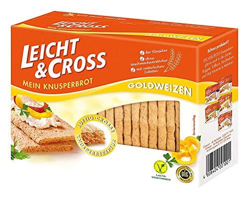 Leicht & Cross Goldweizen Knusperbrot, 1er Pack (1x 125 g Packung)