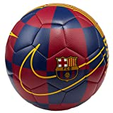 NIKE FCB NK PRSTG Balón de Fútbol, Adultos Unisex, Deep Royal Blue/Noble Red/(University Gold), 5