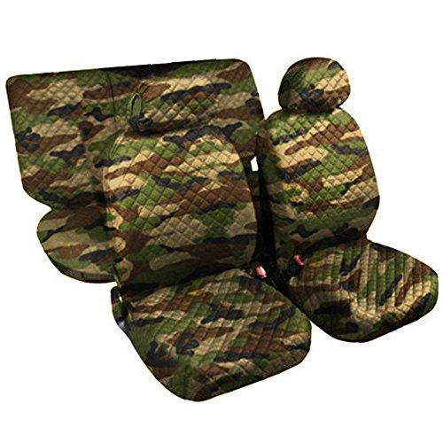 Lupex Shop Trap MCL - Juego de Fundas para Asientos de algodón Acolchado, con Estampado de Camuflaje clásico.
