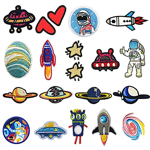 Patch Sticker,18PCS Parches Ropa,DIY Coser Parches,Decoración para Ropa Parches,para Ropa Camiseta Jeans Sombrero Pantalon Bolsas, Cute DIY Ropa Parches