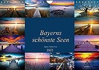 Schoene Seen in Bayern (Wandkalender 2022 DIN A4 quer): Bayerns schoenste Seen (Monatskalender, 14 Seiten )