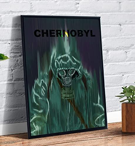 Quadro decorativo emoldurado Capa Desenho Serie Chernobyl