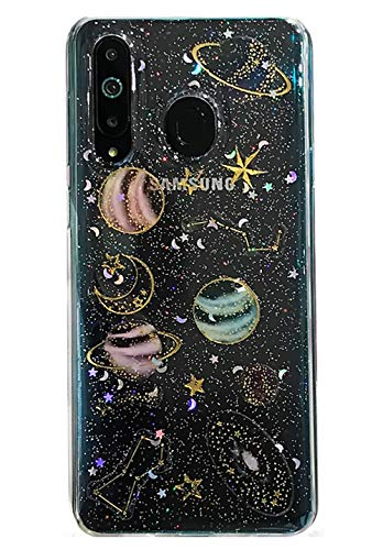 3C Collection Fundas Xiaomi Redmi Note 7 Galaxia Glitter, Fundas Xiaomi Redmi Note 7 Planeta Colorido, Universe Estrellas Estampado Ultra Delgado Transparente Fundas para Xiaomi Redmi Note 7