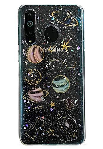 3C Collection Huawei Honor 10 Lite/P Smart 2019 Hülle Galaxis Planet Glitzer Transparent, Clear Universum Sterne Muster Dünne Durchsichtige Hülle für Huawei Honor 10 Lite/P Smart 2019 Mädchen
