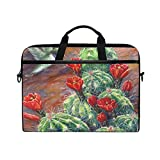 Watercolor Cactus Flower Bird 15-15.4 inch Laptop Sleeve Case Notebook Waterproof Computer Bag
