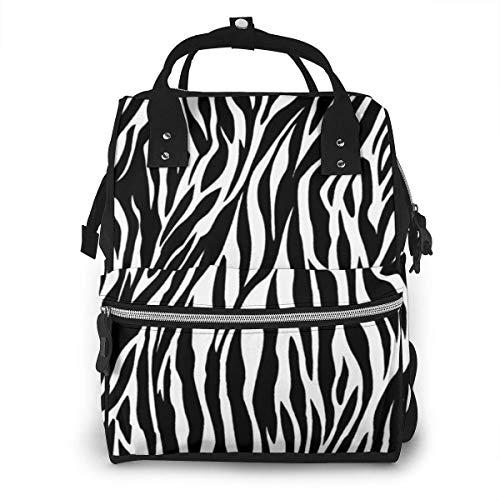 Dierlijke Skins Zebra Print Luiertas Mode Waterdichte Multi-Functie Reizen Rugzak Grote luiertassen Mummy Rugzak voor Baby Zorg