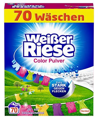 Weißer Riese Color Pulver, Colorwaschmittel, 70 Waschladungen, extra stark gegen Flecken