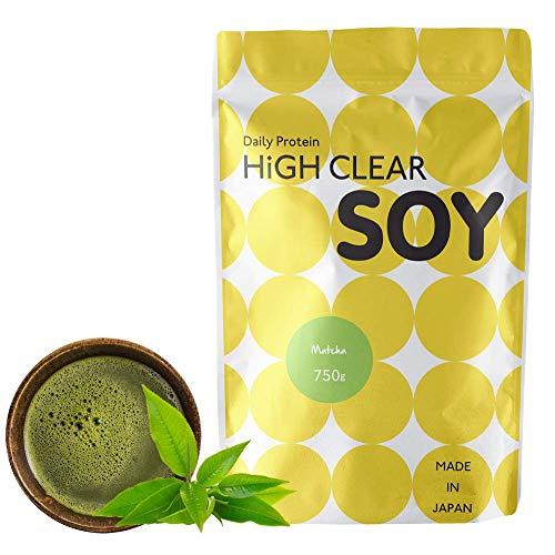 HIGH CLEAR 国産ソイプロテイン 抹茶味 750g(約30食分)