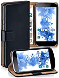 MoEx Funda Cartera [protección 360°] Compatible con LG Google Nexus 4   Cierre magnético, Noir