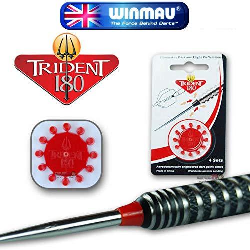 Winmau Darts Zubehör - Trident 180 Dart Spitze Kegel - Rot, One Size