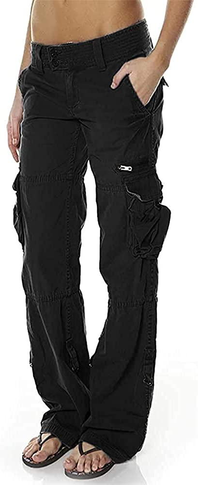 Tactical Cargo Pants for Women 格安 Casual Solid Color Outdoor 往復送料無料