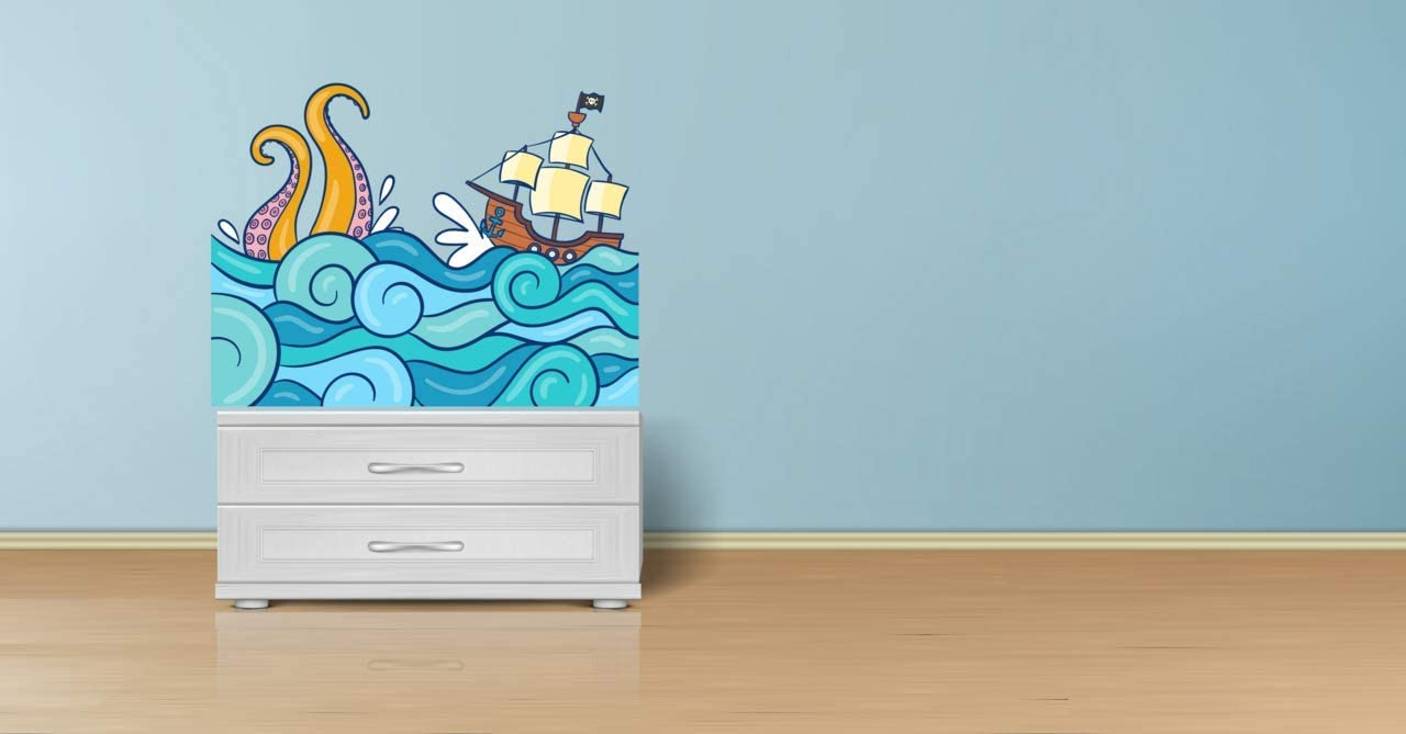 Wall Stickers Pirate Ship Beautiful Wall Stickers Wall Decals Many colours.