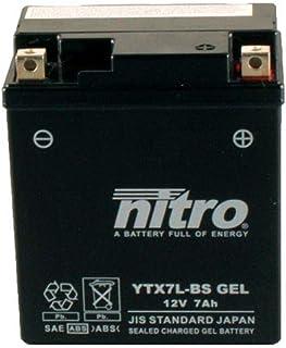 Batterie 12V 6AH YTX7L BS Gel Nitro 50614 CBF 600 NA ABS PC38 04 07