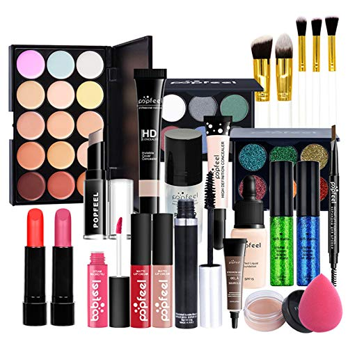 Makeup Kit for Women Full Kit, 24PCS Multi-Purpose Makeup Kit All-in-One Makeup Gift Set Makeup Essential Starter Kit, Compact and Lightweight Design for Girls, Women