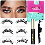 2021 Upgraded Magnetic Eyelashes and Magnetic Eyeliner Kit, Premium VOLUME Look Reusable Waterproof Magnetic false Eyelashes, 3 pairs NERE BEAUTY