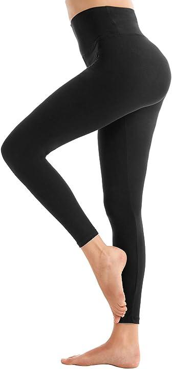 Leggings donna fitness, pantaloni sportivi yoga vita controllo pancia- leggins palestra B07P3H8XT5