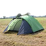 North Gear Camping Mars Waterproof 4 Man Dome Tent Lime Green