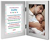 Daddy will love getting this sweet poem and frame as a new dad gift or as a birthday or Christmas gift from his son or daughter, 4x6 inch photo added after delivery Two attached 4x6 inch frames - left frame contains poem - right frame has area for a ...