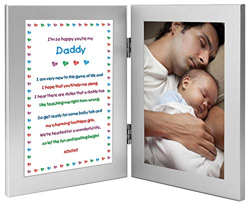 Product Image of the Daddy Gift from Newborn, New Dad Sweet Poem, Add Photo