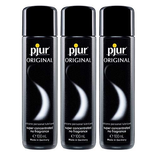 pjur ORIGINAL - Premium Silikon-Gleitgel - lange Gleitfähigkeit ohne zu kleben - sehr ergiebig und für Kondome geeignet - 100ml (3er Pack)
