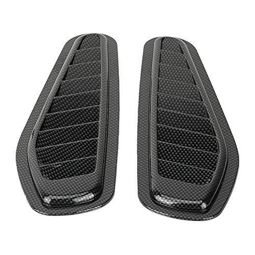 Suuone Lufteinlass Schaufel, Luftstrom Ansaugdeckel, 2 Stück Carbon Style Car Dekorative Luftstrom Ansaugschaufel Bonnet Vent Hood Cover Universal