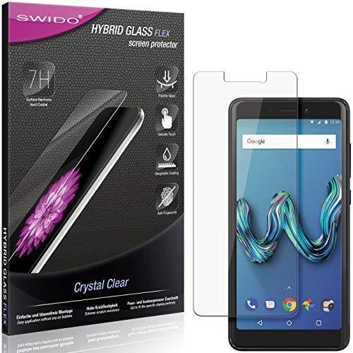 SWIDO Panzerglas Schutzfolie kompatibel mit Wiko Tommy 3 Bildschirmschutz-Folie & Glas = biegsames HYBRIDGLAS, splitterfrei, Anti-Fingerprint KLAR - HD-Clear
