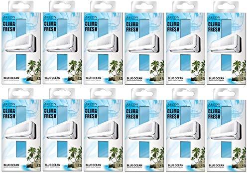 Areon Clima Deodorante Ambiente Oceano Blu Filtri Condizionatori Profumati Casa ( Blue Ocean Set di 12 )